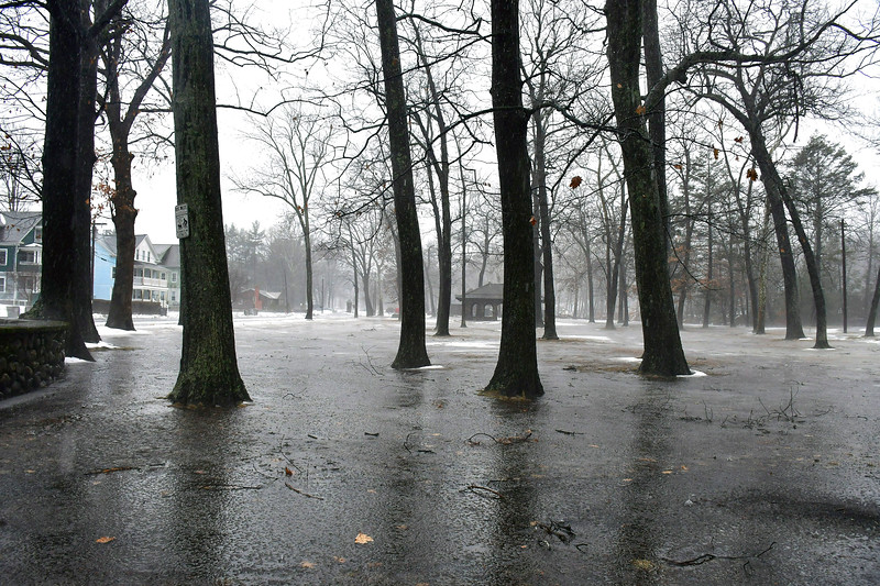 1/24/2019 Mike Orazzi   Staff Standing water in Bristol's Rockwell Park during Thursday's heavy rainfall.