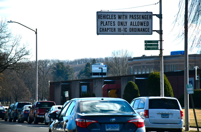 1/25/2019 Mike Orazzi | Staff The ordinance sign for passenger plates on Memorial Boulevard in Bristol.