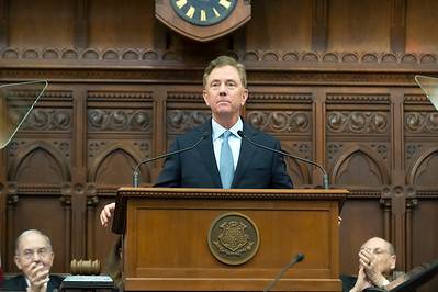 01/09/19  Wesley Bunnell | Staff  Governor Ned Lamont during his State of the State speech to a joint session of the CT General Assembly.