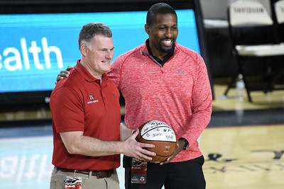 Dr. Robert Lutz (COL - U.S. Army Retired) is the Davidson College Teams Physician and was honored before the game. He is a member of the Davidson College Class of 1987.