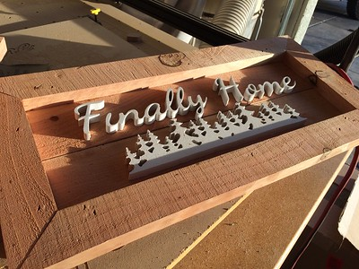 Small signs like this or large ones are made by Cody Anderson in his Flame to Table business in Chico Ca. (Laura Urseny -- Enterprise-Record)