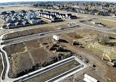 Construction continues on a new neighborhood off of Bruce Road on Thursday in Chico. (Matt Bates -- Enterprise-Record)