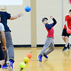 KEVIN HARVISON | Staff photo<br /> Parker Intermediate Center students participate in a school wide Dodge Ball Tournament with the winning team getting to take on a team of Parker teachers for the school Championship.