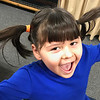 KEVIN HARVISON | Staff photo<br /> Layla Peasha passes time playing with her pigtales during a recent indoor recess.