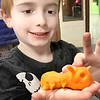 KEVIN HARVISON | Staff photo<br /> Turin Winnett is known as the Emerson Entomologist, shows off his caterpillar he made. Winnett said he wants to be a scientist who studies all kinds of bugs.