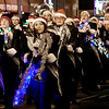 KEVIN HARVISON | Staff photo<br /> Pride of McAlester, McAlester High School Marching Band performed Thursday during the McAlester Annual Christmas Paradae.