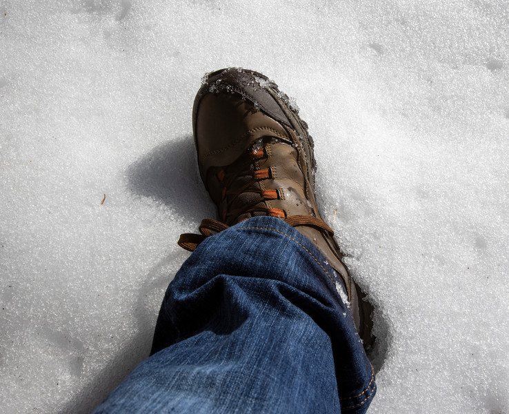 my left foot at Silver Lake