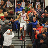 Richland's Tyler Zimmerman is congratulated by fans after scoring his career 1,000th point in the second period of a game against Greater Johnstown at Richland High School in Johnstown,PA., Monday, Jan.29, 2018. Greater Johnstown rallied to upset Richland 54-53.