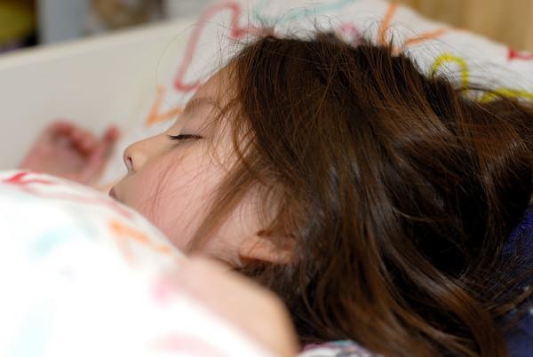 1/15/09 Madeline sleeping