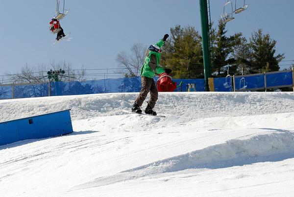3/14/09 Jonas Snowboarding at Pine Knob