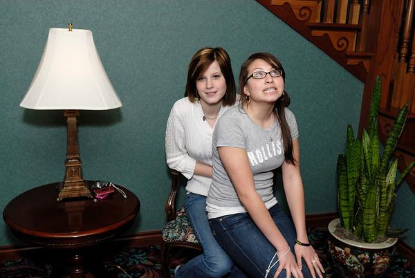 3/20/09 Emily and Lauren in Grand Rapids