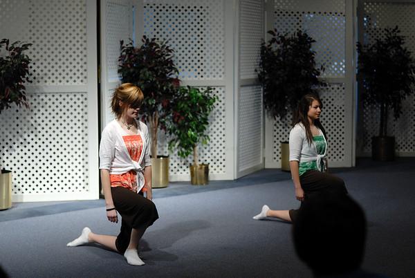 3/21/09 Emily and Lauren dancing at the Michigan Fine Arts Festival in Grand Rapids