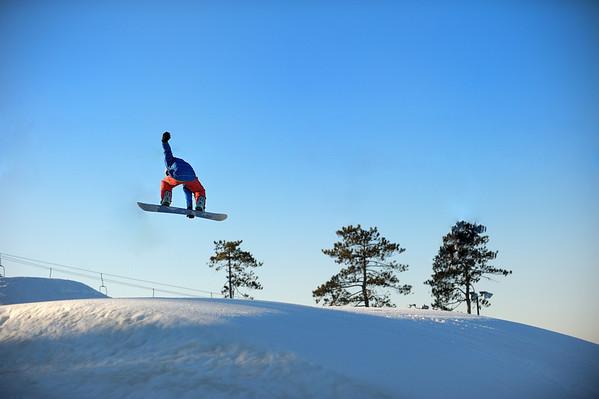 2/6/12 Jonas snwboarding at Pine Knob