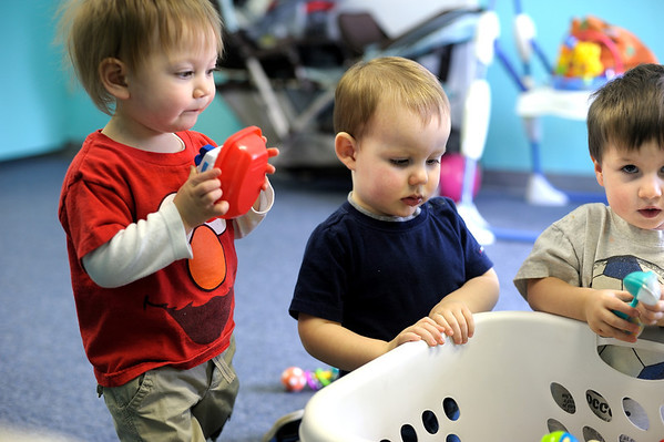 3/15/12 Micah and his buddies in the nursery at Hometeam