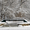 THB photo/John P. Cleary<br /> The snow covered trees made a nice backdrop for the falls in Falls Park in Pendleton.