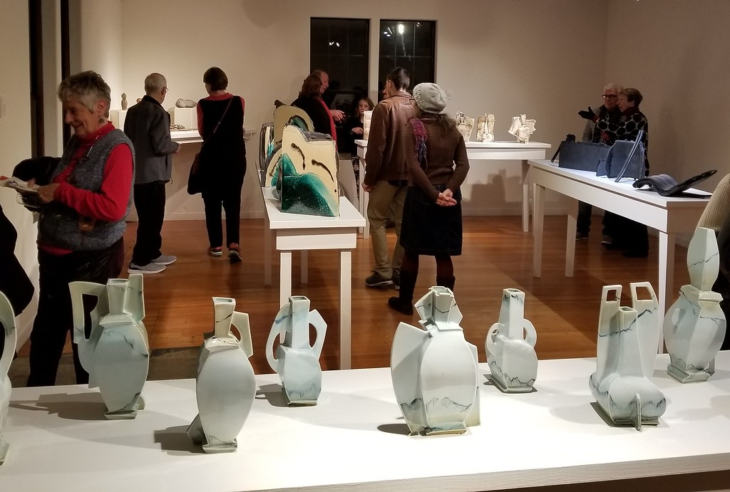 . AURA WHITTAKER for the Willits News With the New Year came a new art show featuring ceramic pieces, plywood sculptures and framed collages at Willits Center for the Arts.