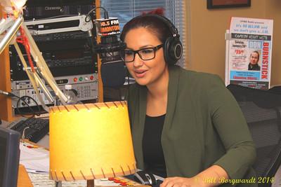 Arlysse Wuttunnee interviewing Lindsay Ell in CFWE studios