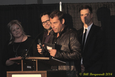 Troy Niemans accepts Male Artist of the Year award for Bobby Wills - 2014 ACMAs
