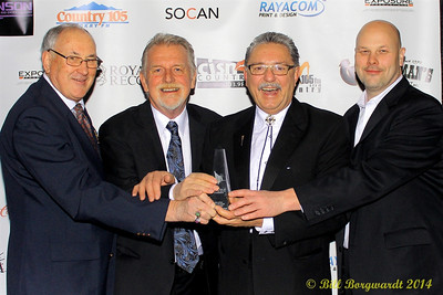 R Harlan Smith, Ed Harris, Honourable Gene Zwozdesky, Rob Smith - 2014 ACMAs