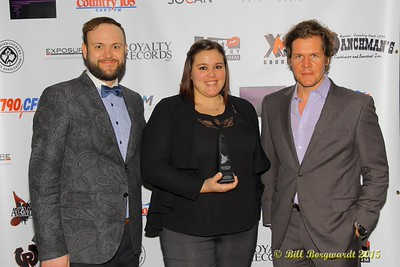 Chris Melnychuk and staff members (Panhandle Productions) - tie winners for the Talent Buyer of the Year Award - ACMA Awards Show 2015
