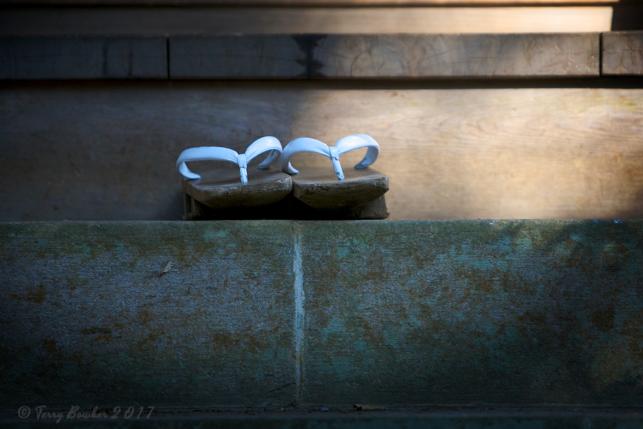 Buddhist monks slippers at the Naritasan Shinsho-ji Temple