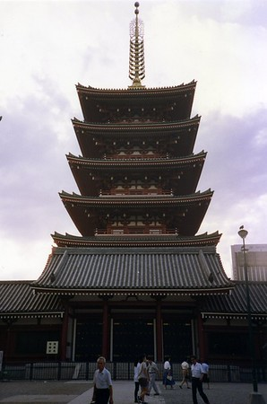 A pagoda in Asakusa, Tokyo