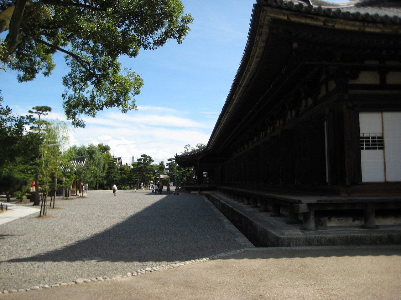 "Sanjsangen-do was founded in 1164, burned down in 1249 and then rebuilt as it is today in 1266. The name Sanjusangen-do means simply ""A hall of thirty-three bays"". The number 33 is derived from the belief that the Buddhist deity, Kannon Bodhisattva, saves mankind by disguising himself as 33 different figures"