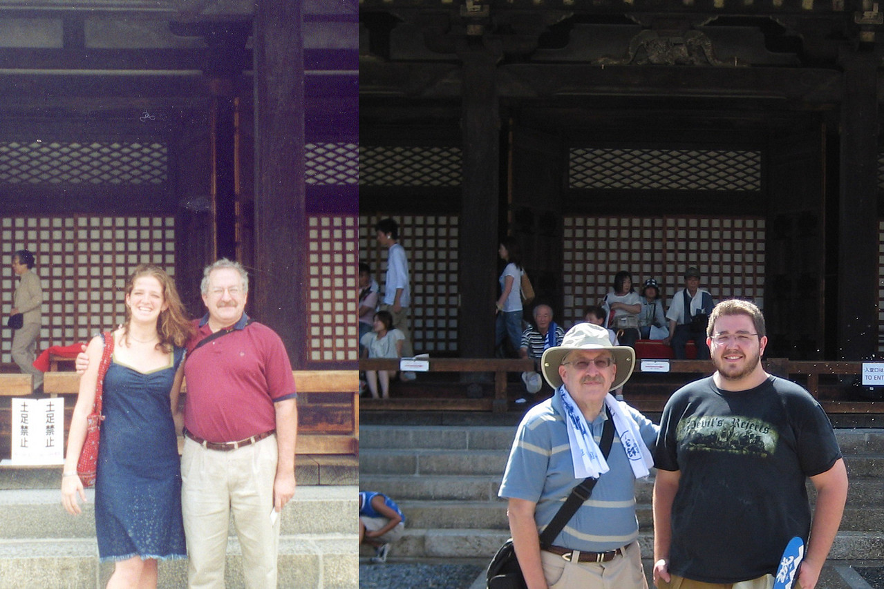 Once again, two different photos in front of the Sanjsangen-do, my daughter Jennifer in 2002 and my son Josh in 2008