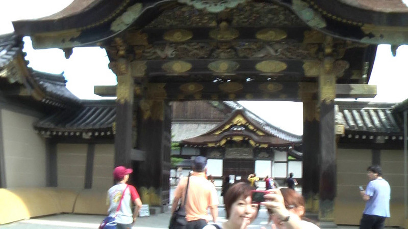 Walking through the Karamon Gate.