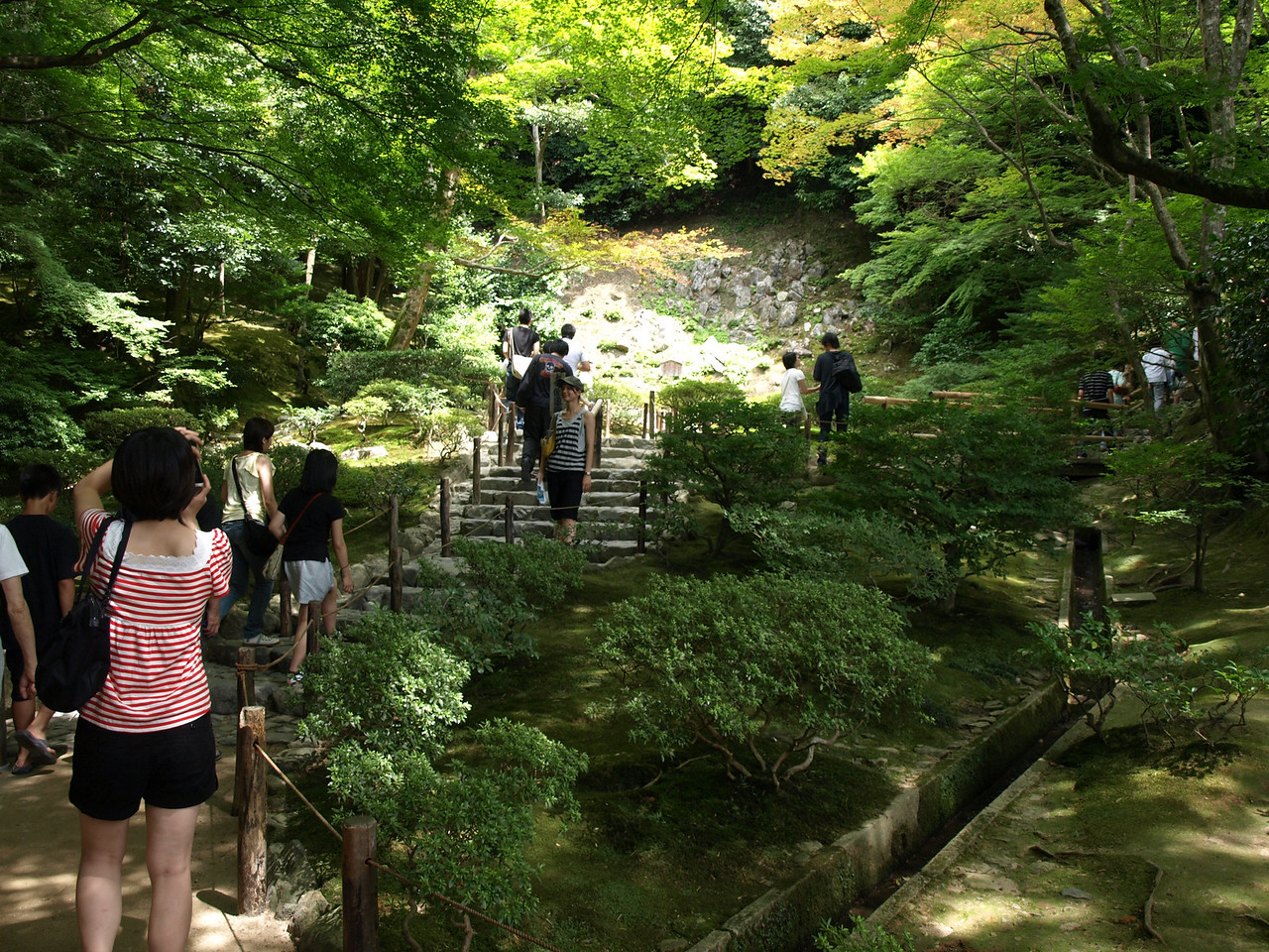 Following the sand garden, we climbed the slopes of the Higashiyama mountain via this stairway.
