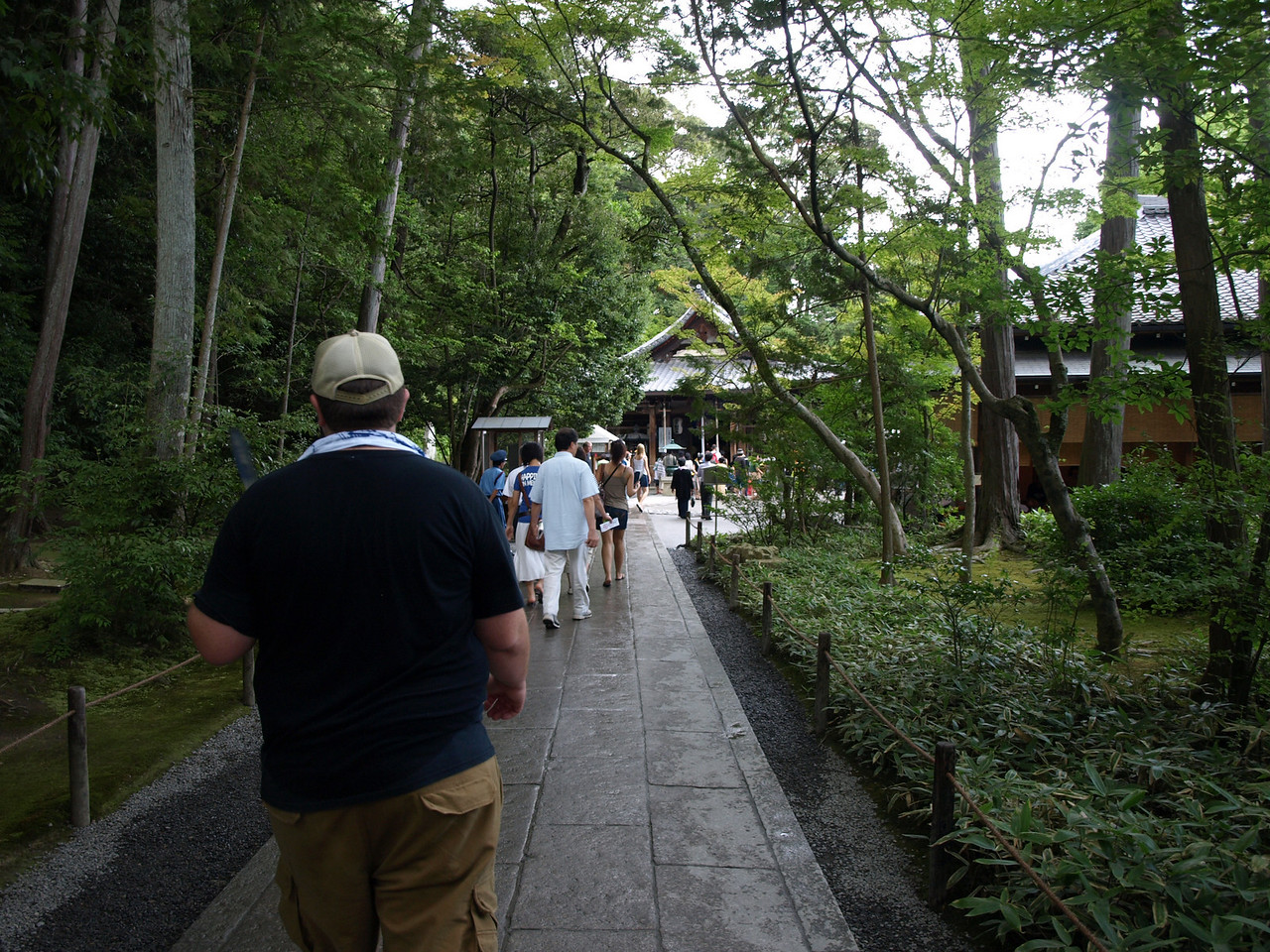 We approach the Sekka-tei Tea House