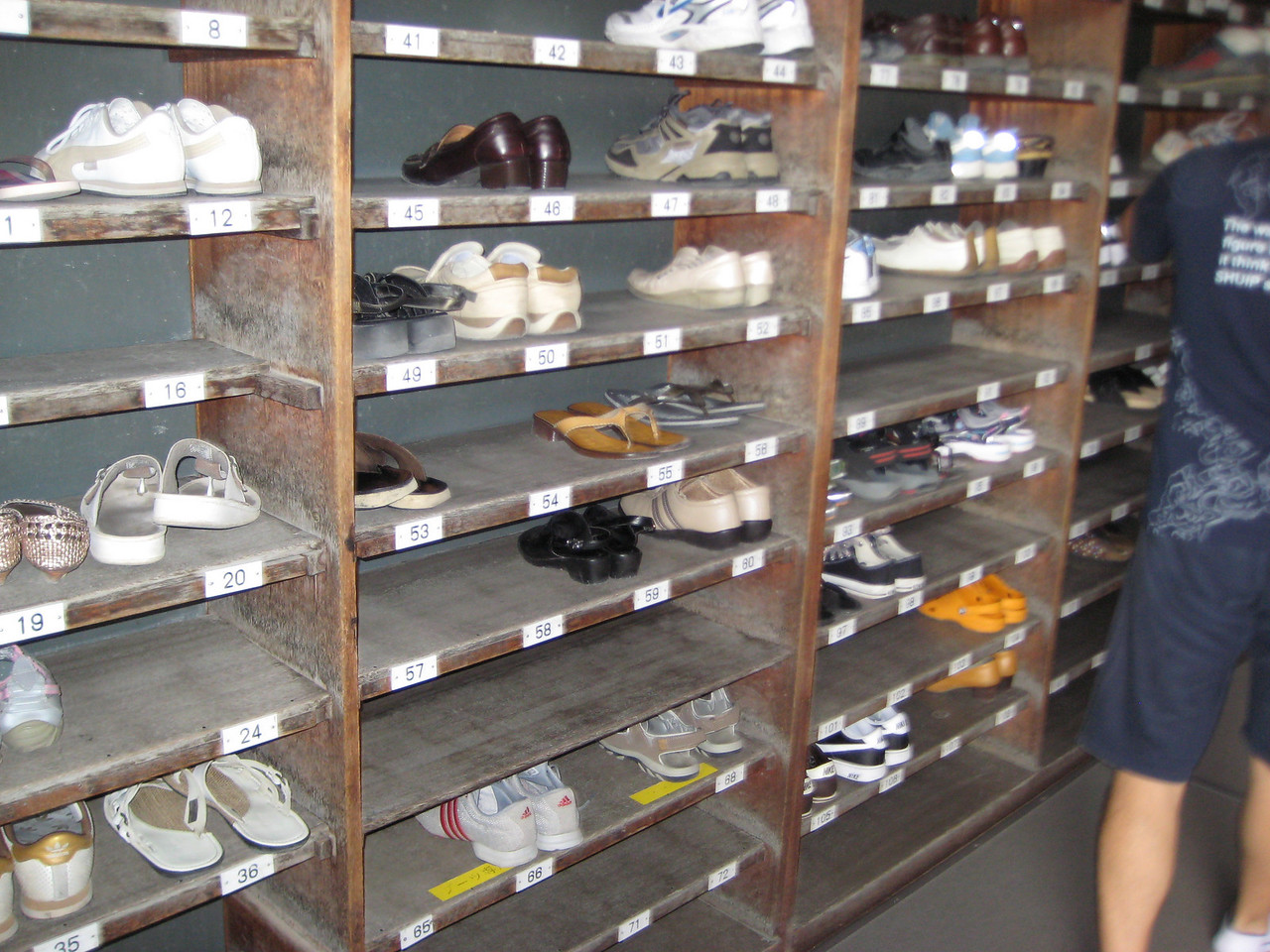 Inside almost every home in Japan is the genkan, a foyer sort of area where you remove your shoes in order to keep from tracking dirt into the home.