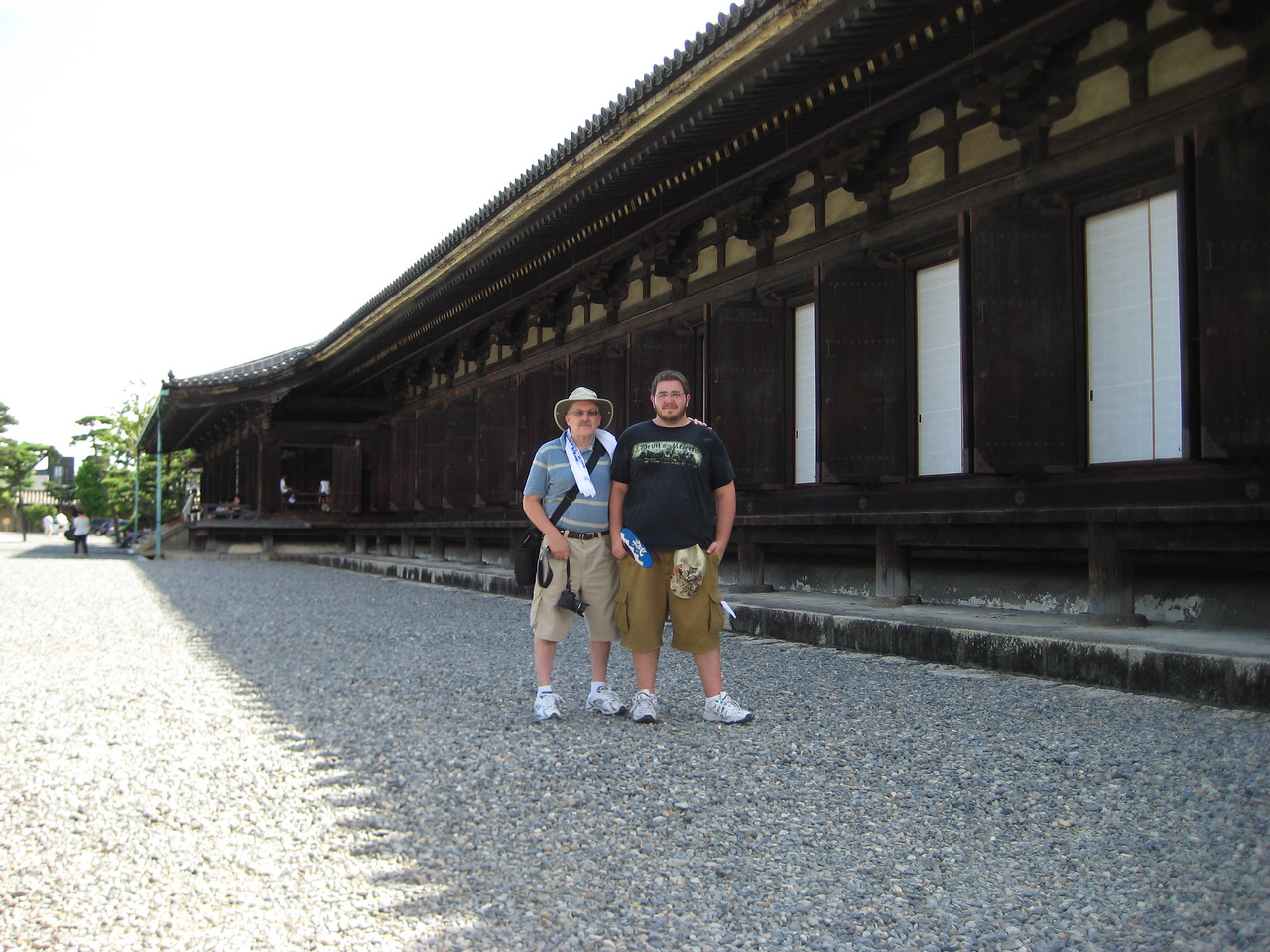 Josh and me at the north-east corner of the hall