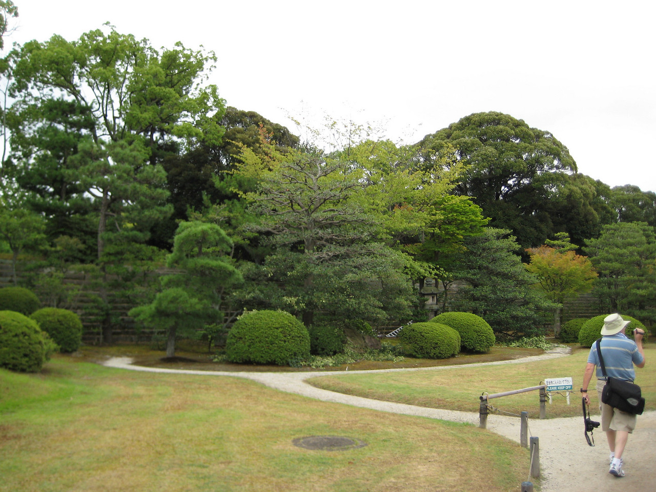 A view of the Honmaru Gardens