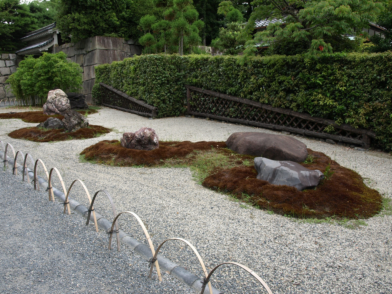 Another view of the Nijo Castle rock garden