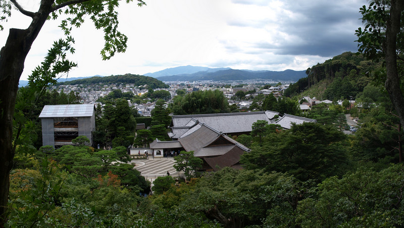 A closer view of Ginkaku-ji