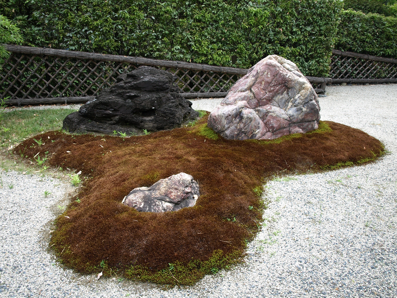 A closer view of one element of the rock garden