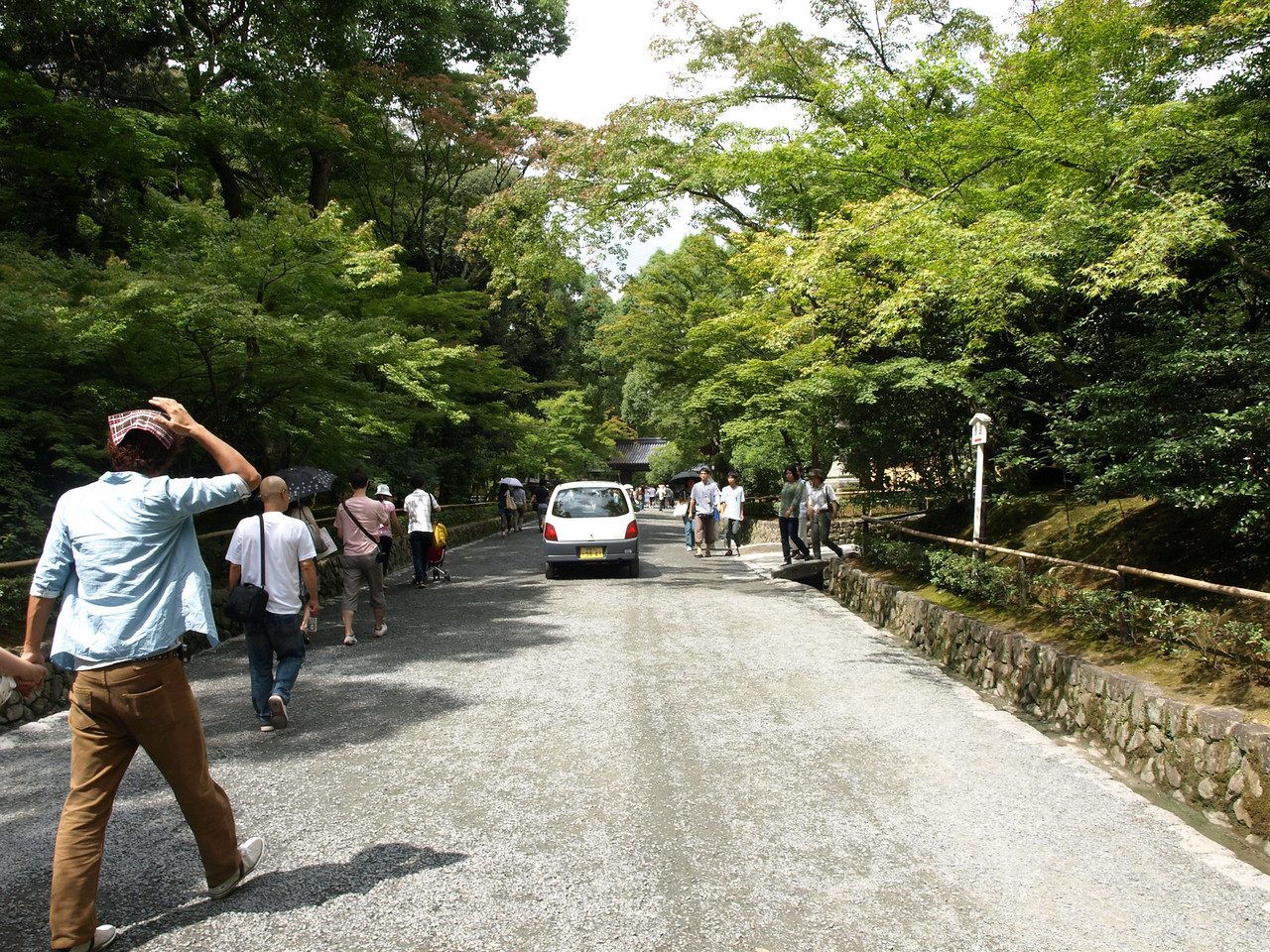 Ahead is the entrance to Kinkaru-ji, the Gold Pavilion