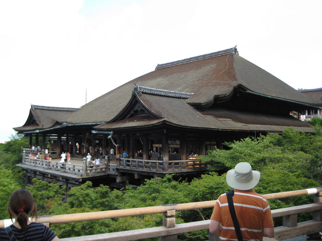Another panoramic view of the Kiyomizu-Dera main hall with me (John) in the foreground