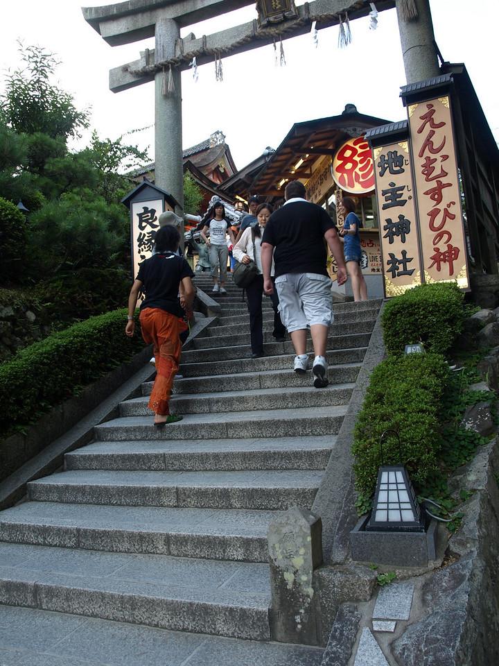We pass under the torii of the Jishu Shrine