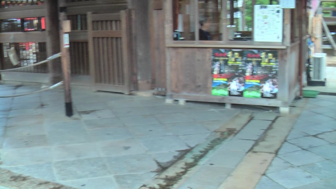 A video of our entrance into the main hall and a view of the ground far below.