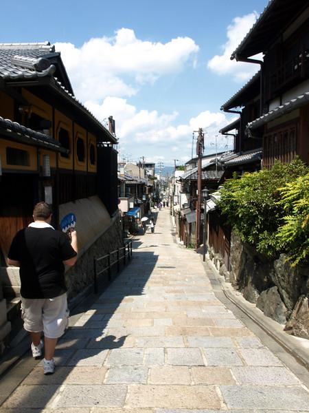 Heading towards Higashioji Street where we will turn right to head north.