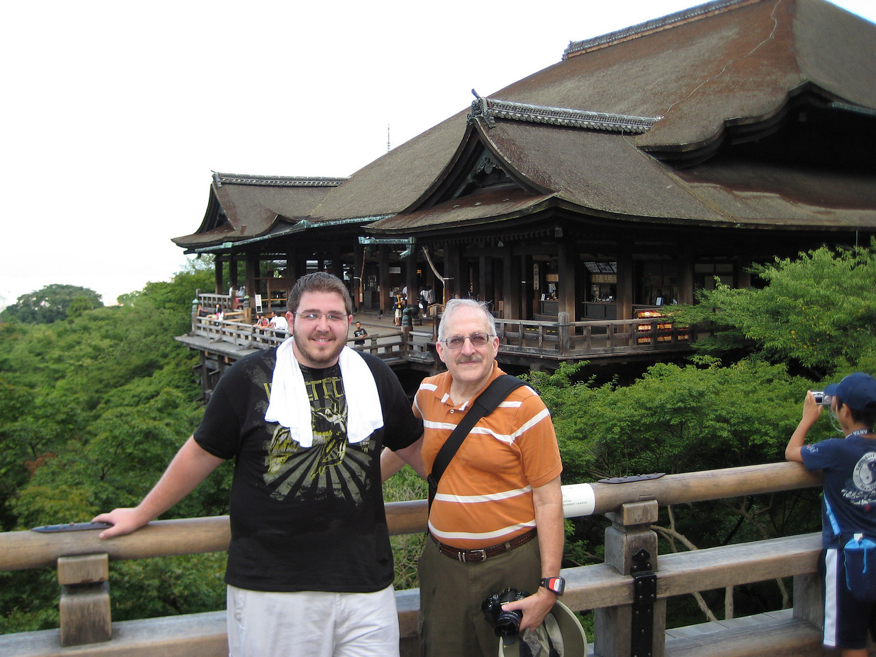 My son Josh and me (John) in a traditional photo shot in front of the main hall