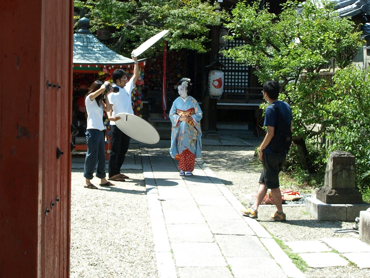 The maiko is photographed. We photograph the photographer. But who will photograph us?
