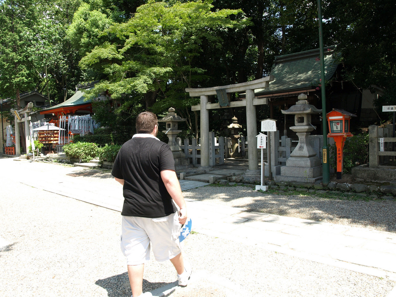 Here were many small shrines along the outer edge of the Yasaka Shrine, many with a small torii framing the entrance.