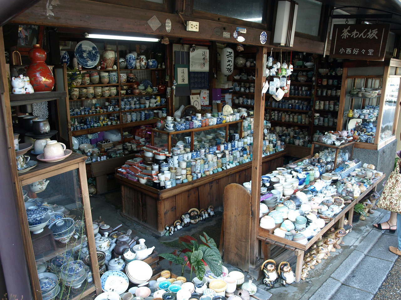 The shop was selling ceramics of various shapes and sizes