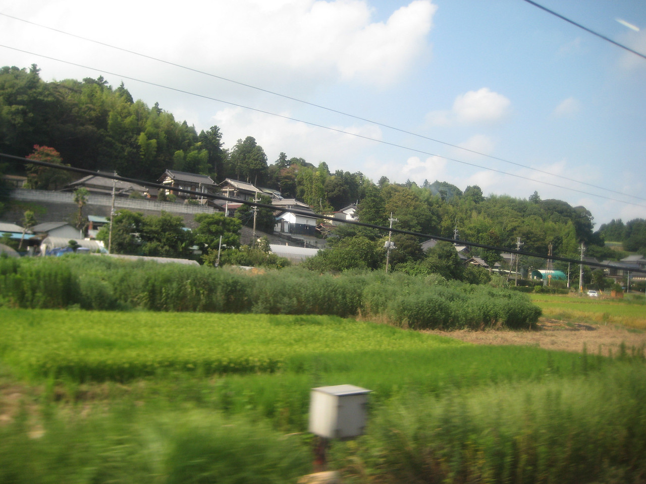 It was now about 3 PM. We had been traveling maybe an hour or so. As crowded as Japan is, I'm amazed that there is still so much greenery to be seen.