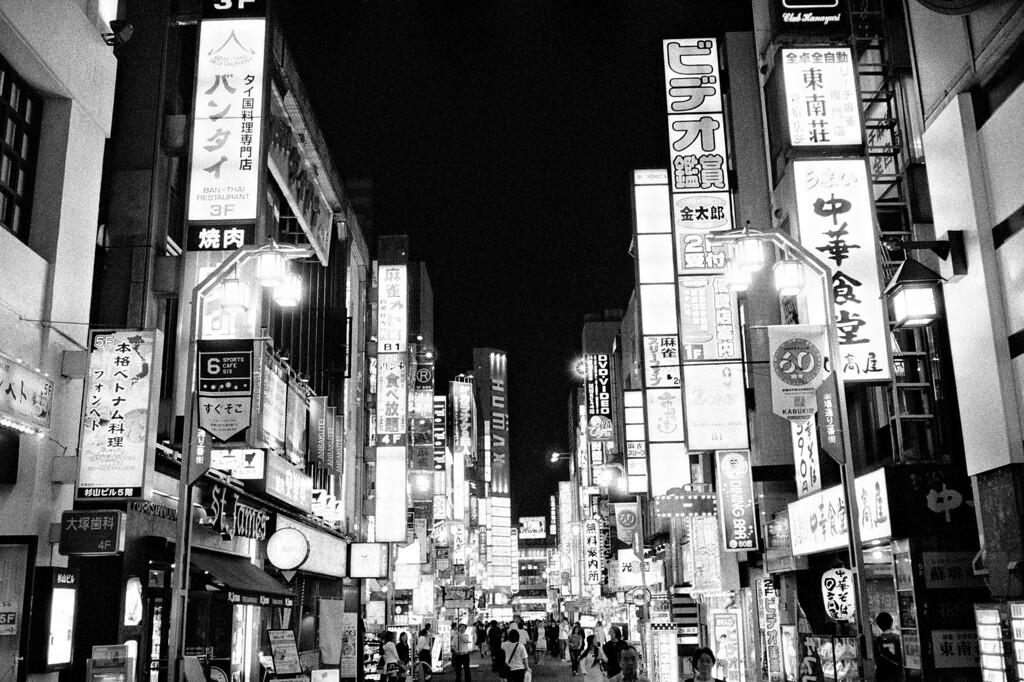 Tokyo, Kabuki-chou<br /> June 2008<br /> <br /> Ilford Delta 3200