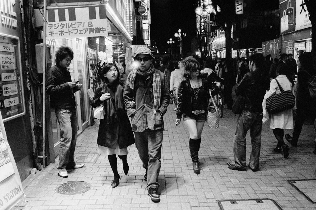 Tokyo, Shinjuku<br /> March 2008<br /> <br /> Ilford Delta 3200