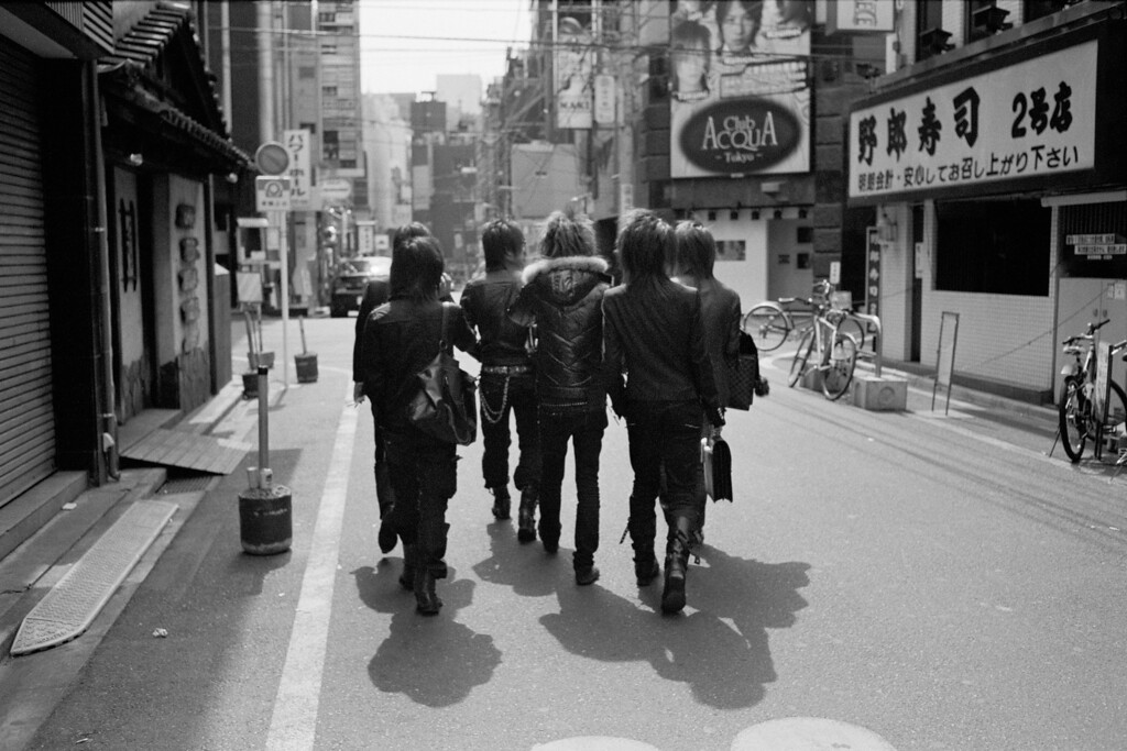 Kabuki-chou workers... <br /> <br /> Tokyo, Shinjuku<br /> March 2008<br /> Kodak Tri-X 400